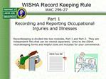 WISHA Record Keeping Rule WAC 296-27