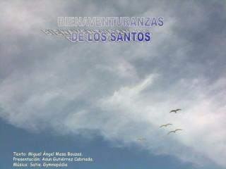 BIENAVENTURANZAS DE LOS SANTOS