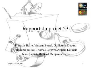 Rapport du projet 53