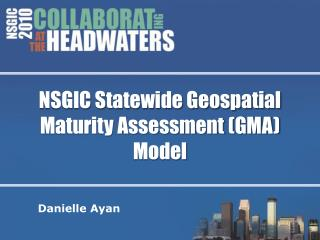NSGIC Statewide Geospatial Maturity Assessment (GMA) Model