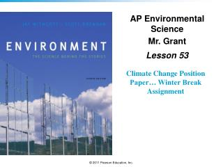 Climate Change Position Paper… Winter Break Assignment
