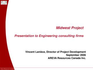 Midwest Project Presentation to Engineering consulting firms