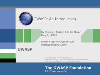 OWASP: An Introduction