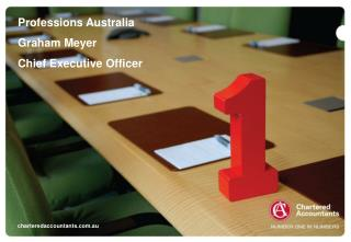 Professions Australia Graham Meyer Chief Executive Officer