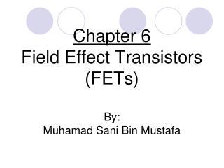 Chapter 6 Field Effect Transistors (FETs) By: Muhamad Sani Bin Mustafa