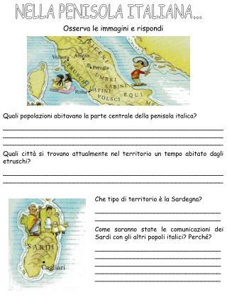 NELLA PENISOLA ITALIANA...