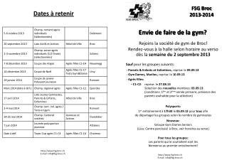FSG Broc  2013-2014