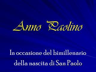 Anno Paolino