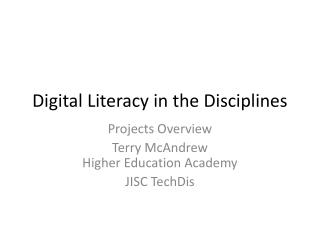 Digital Literacy in the Disciplines