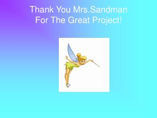 Thank You Mrs.Sandman For The Great Project!