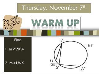 Thursday, November 7 th