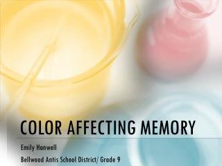 Color Affecting Memory