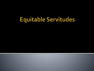 Equitable Servitudes and Implied Covenants