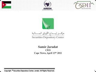 Samir Jaradat CEO Cape Town, April 13 th  2011