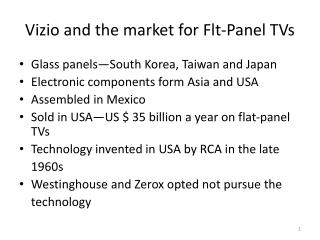 Vizio and the market for Flt-Panel TVs