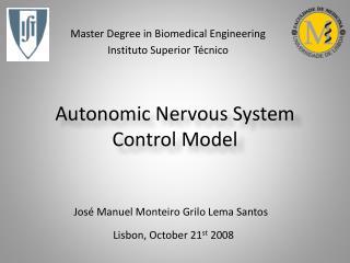 Autonomic Nervous System Control Model