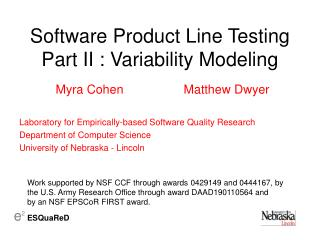 Software Product Line Testing Part II : Variability Modeling