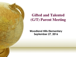 Programs for Gifted and Talented Students Chapter 9