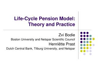 Life-Cycle Pension Model: Theory and Practice