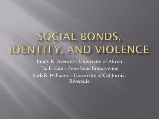 Social Bonds, Identity, and Violence
