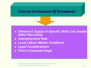 External Environment Of Recruitment