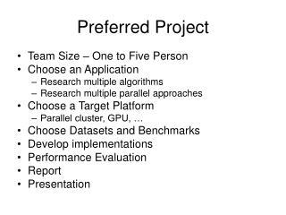Preferred Project