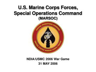 U.S. Marine Corps Forces,  Special Operations Command MARSOC