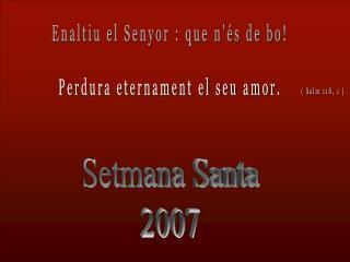 Setmana Santa 2007