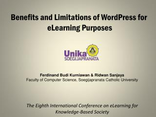 Benefits and Limitations of WordPress for  eLearning Purposes