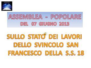 ASSEMBLEA  -  POPOLARE DEL   07  GIUGNO  2013