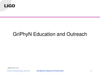 GriPhyN Education and Outreach