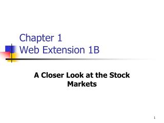 Chapter 1 Web Extension 1B