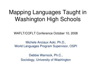 Mapping Languages Taught in Washington High Schools
