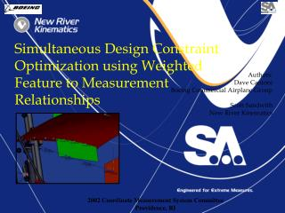 Simultaneous Design Constraint Optimization using Weighted Feature to Measurement Relationships
