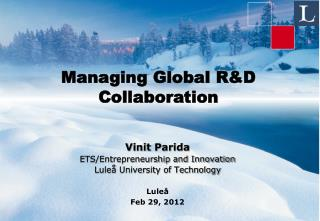 Managing Global R&D Collaboration