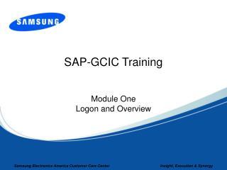 SAP-GCIC Training