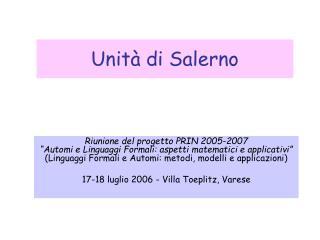 Unità di Salerno