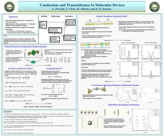 Conduction and Transmittance in Molecular Devices