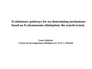 Evolutionary pathways for sex-determining mechanisms