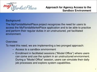 Approach for Agency Access to the Sandbox Environment