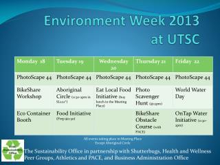 Environment Week 2013 at UTSC