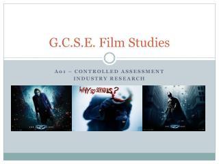G.C.S.E. Film Studies