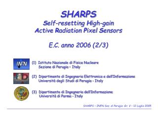 SHARPS S elf-resetting  H igh-gain  A ctive  R adiation  P ixel  S ensors E.C. anno 2006 (2/3)