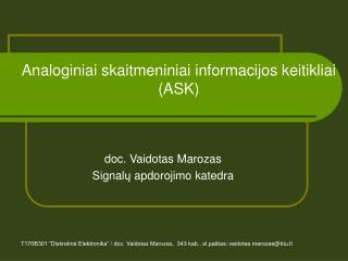 Analoginiai skaitmeniniai informacijos keitikliai  (ASK)