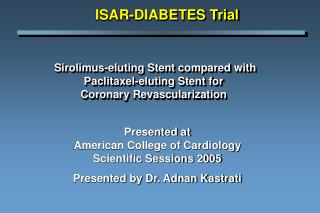 Sirolimus-eluting Stent compared with  Paclitaxel-eluting Stent for  Coronary Revascularization