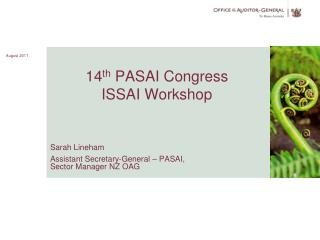 14 th  PASAI Congress ISSAI Workshop