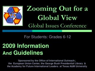 Zooming Out for a Global View Global Issues Conference