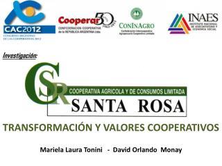 Transformación y valores cooperativos