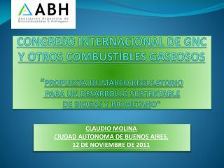 CLAUDIO MOLINA CIUDAD AUTONOMA DE BUENOS AIRES,   12 DE NOVIEMBRE DE 2011