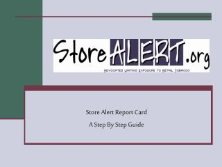Store Alert Report Card A Step By Step Guide